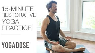 Download 15 Min Restorative Yoga For Relaxation   Yoga Dose Video