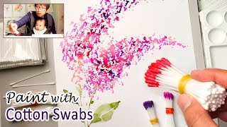 Download Cotton Swabs Painting Technique for Beginners | Basic Easy Step by step Video