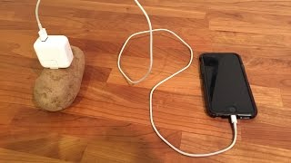 Download Mobile charging with a potato Video