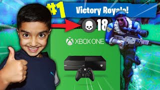 Download I told my 5 year old little brother if he gets a victory in Fortnite I will buy him a XBOX ONE! Video