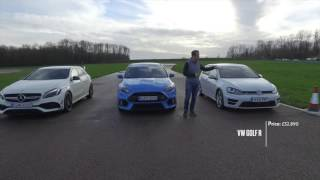 Download Focus RS vs A45AMG vs Golf R drag race Video