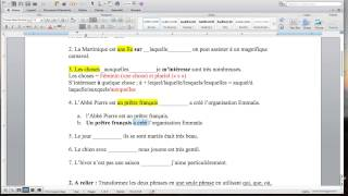 Download Pronoms relatifs exercice 1 Video