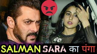 Download Salman Khan Angry with Sara Ali Khan | Bollywood Latest News Video