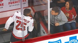 Download Fans get the boot after harassing Smith-Pelly in penalty box Video