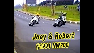 Download Joey v Robert -Clash of the Dunlops at NW200 1991 Honda v Norton Video