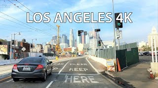 Download Driving Downtown - LA's Skyline - Los Angeles California USA Video
