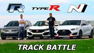 Download 2019 VW Golf R vs Civic Type R vs Veloster N - TRACK REVIEW // DRAG RACE & LAP TIMES Video
