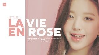 Download IZ*ONE - La Vie en Rose Line Distribution (Color Coded) | 아이즈원 - 라비앙로즈 Video