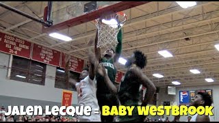 Download DON'T JUMP WITH JALEN LECQUE! ″Baby Westbrook″ Best Dunks From His Junior Year Video