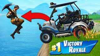 Download TROLLING Enemies With A GOLF KART In Fortnite Battle Royale! Video