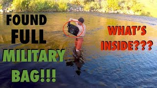 Download River Treasure: Found FULL Military Bag in the River!!! (Deadly Weapons Found - Police Called) Video
