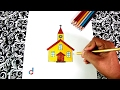 Download Cómo dibujar una Iglesia | How to Draw a Church Video