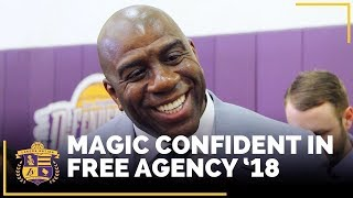 Download Magic Johnson Very Confident In Lakers Free Agency '18 Video