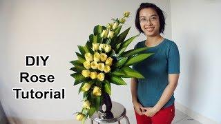 Download Cắm hoa bàn thờ tập 29  BÌNH HOA HỒNG VÀNG  Cắm hoa ngày tết Video