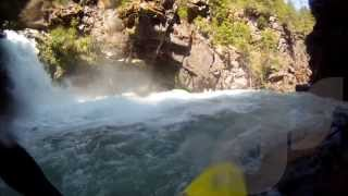 Download Kayaker saved just before swimming over a 60 foot waterfall!! Video