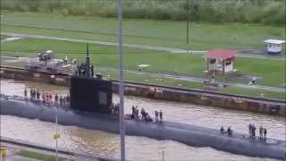Download US Nuclear Submarine passes through Panama Canal | Sunday November 1, 2015 Video