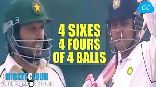 Download SEHWAG AFRIDI BATTLE - 6 6 6 6 & 4 4 4 4 in a Row in a TEST MATCH - INDvPAK 2006 !! Video