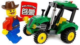 Download Enlighten Analogue LEGO City Tractor, Review Set 1102 Video