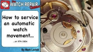 Download How to service an automatic watch ETA 2824 Watch repair tutorial Video