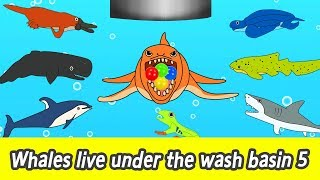 Download [EN] Whales live under the wash basin 5, kids animals animation, whales adventureㅣCoCosToy Video