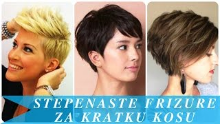 Download Stepenaste frizure za kratku kosu Video