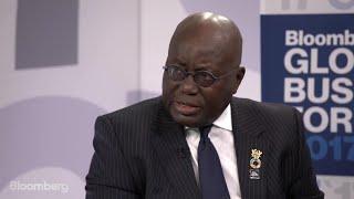 Download Ghana's Akufo-Addo on Economy, Cocoa, Trade, Oil Video