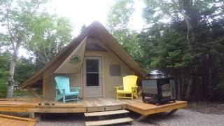 Download Parks Canada oTENTik tour in cape Breton island highlands , Nova Scotia Video