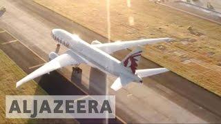 Download Middle East airlines mock electronics ban on UK, US-bound flights Video