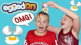 Download EGGED ON - Extreme Messy Fun Food Challenge || Family Game Night Video