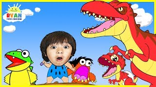 Download Dinosaur Cartoons for Children! Ryan ToysReview rescue baby T-REX Animation for Kids Video