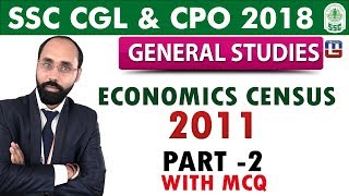 Download Economics Census 2011 | Part-2 | MCQ | GS | SSC CGL | CPO 2018 Video