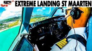 Download Extreme St Maarten Airport - Cockpit Landing! Video