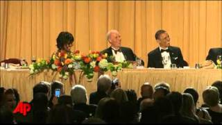 Download Meyers Skewers Obama, Trump at Washington Dinner Video