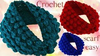 Download Aprende hacer bufanda infinita con hojas en relieve a Crochet Video