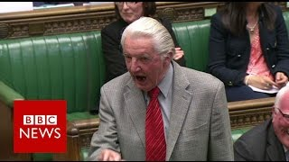 Download Dennis Skinner kicked out of Commons for calling David Cameron ″dodgy Dave″ - BBC News Video