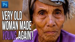 Download VERY OLD lady made YOUNG again ►PHOTOSHOP MAKEOVER! Video