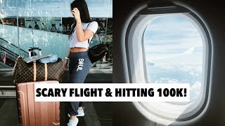 Download VLOG: the scariest flight ever + hitting 100k on youtube!!! Video