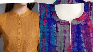 Download Perfect round collar neck cutting and stitching Video