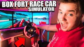 Download $30,000 BOX FORT Race Car SIMULATOR Challenge! 📦🚗 Video
