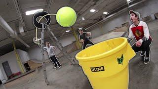 Download GIANT TENNIS BALL TRICK SHOTS! Video