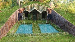 Download Build House Under The Wood roots & Add Two Swimming Pool Video