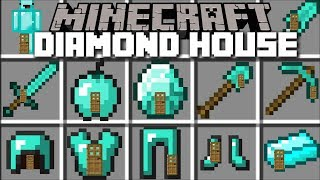 Download Minecraft DIAMOND HOUSE MOD / LIVING INSIDE A DIAMOND BLOCK!! Minecraft Video