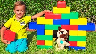 Download Vlad and Nikita Pretend Play with Colored Bloks Video
