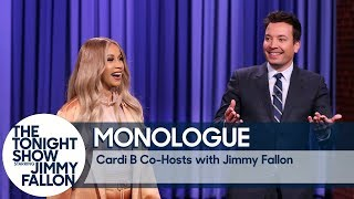 Download Co-Host Cardi B Tells Jokes In Jimmy's Monologue Video