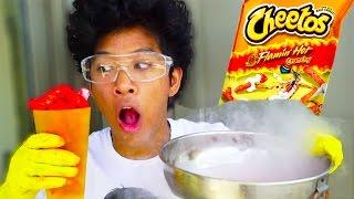 Download HOT CHEETOS PUFFS VS. LIQUID NITROGEN!!! Video
