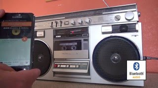 Download 1980 Vintage Aiwa Boombox Hacked for Bluetooth Audio. Video