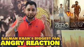 Download ZERO vs KGF | Salman Khan's Biggest Fan ANGRY REACTION | SRK vs Yash | Box Office Battle Video