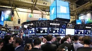 Download Twitter IPOs Amidst the Chaos of the NYSE Floor Video