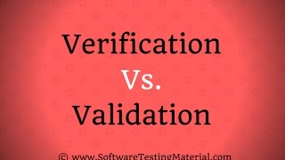 Download Verification Vs Validation In Software Testing Video
