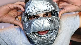 Download 100 LAYERS OF DUCT TAPE ON FACE!! Video